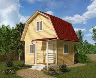 Проект дачного дома 5,5 на 5 с мансардой