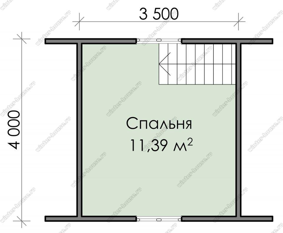 План дачного дома 5,5х5 с мансардой