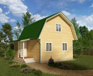 Проект дома для постоянного проживания 7,5 на 6 с мансардой и террасой