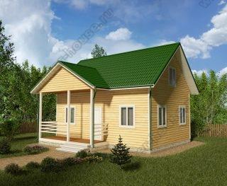 Проект дачного дома 7,5 на 8 с мансардой и террасой