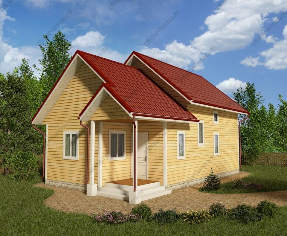 Проект двухэтажного дома для постоянного проживания 11 на 6