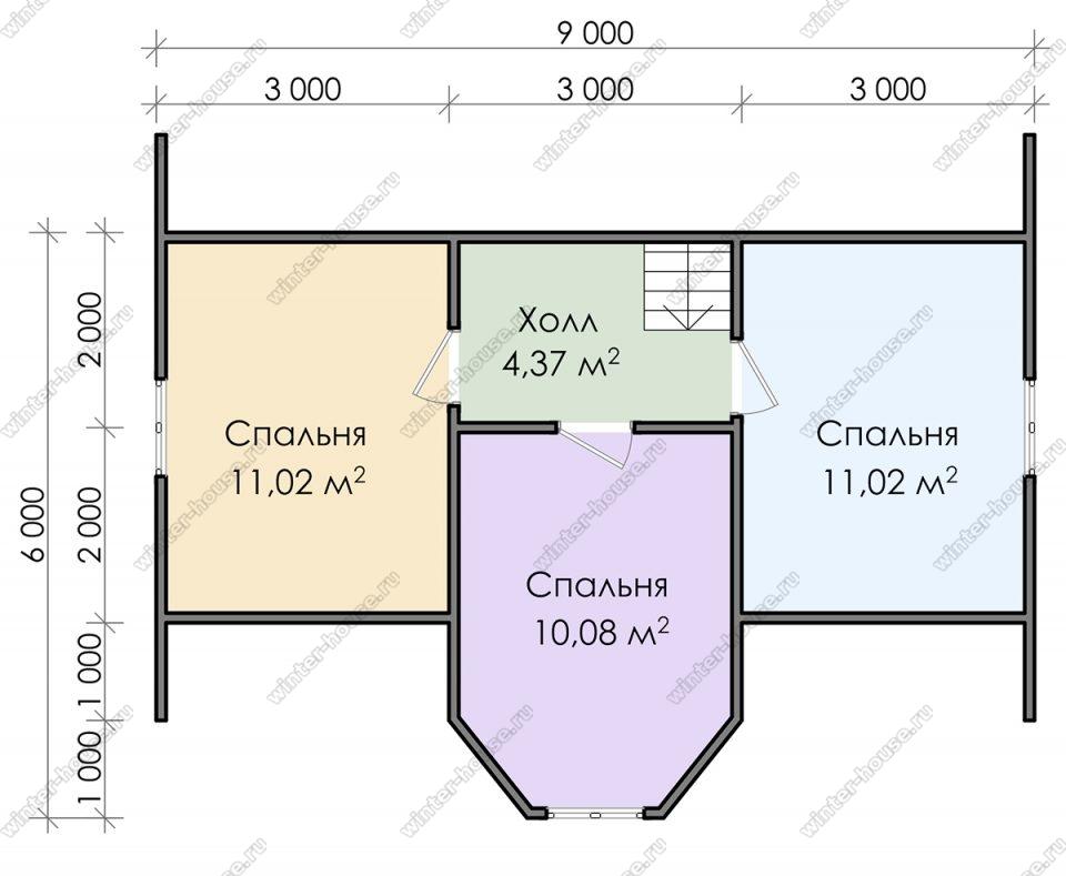 План дома для постоянного проживания 7х9 с мансардой