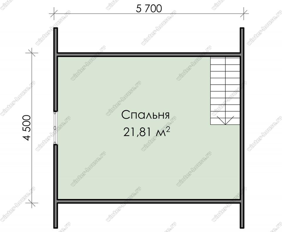 План дачного дома 6х8 с мансардой и террасой