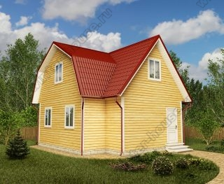 Проект дачного дома 7,5 на 8 с мансардой