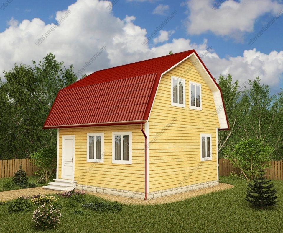 Проект дома для постоянного проживания 6 на 6 с мансардой