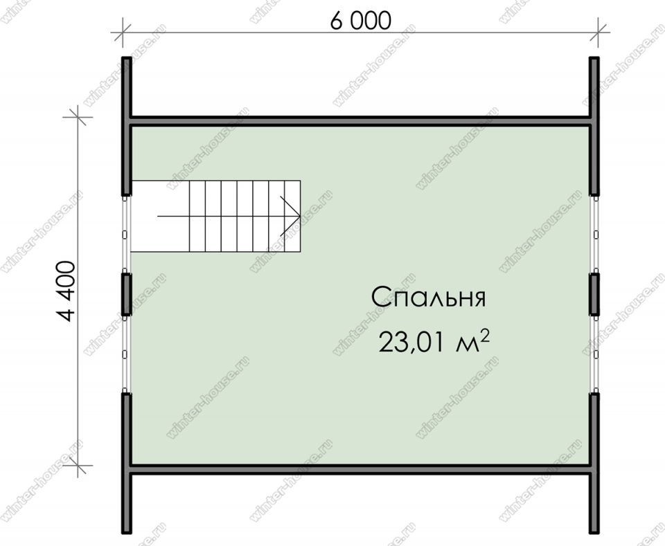 План дома для постоянного проживания 6х6 с мансардой