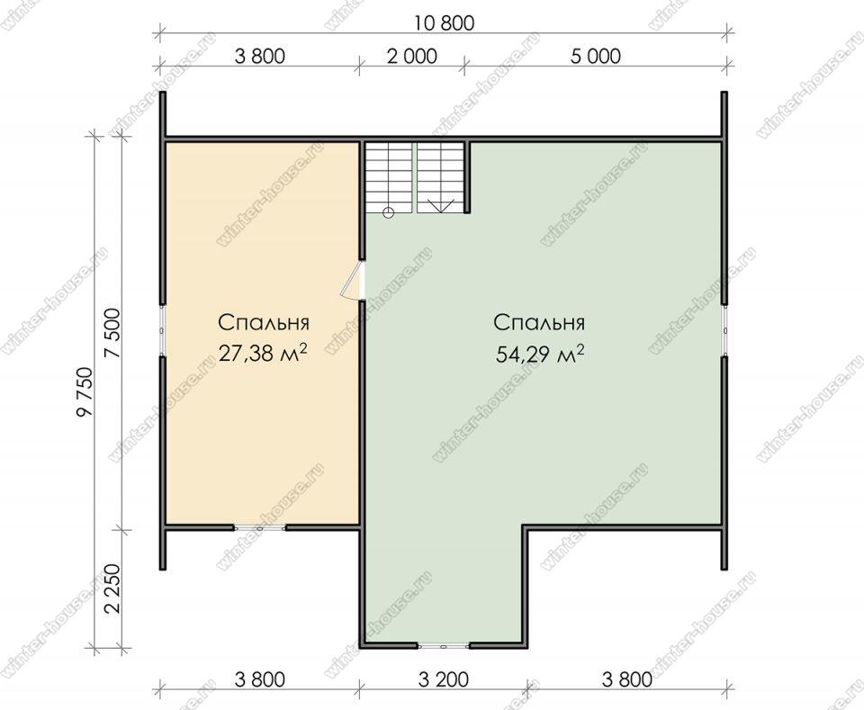 План дома для постоянного проживания 11х13 с мансардой и террасой