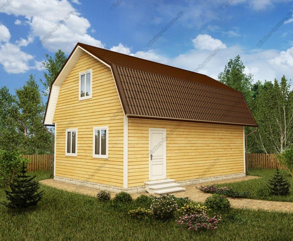 Проект дома для постоянного проживания 6 на 9 с мансардой