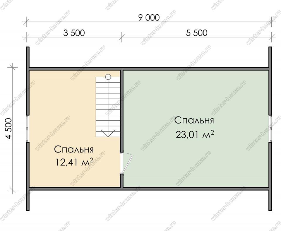 План дома для постоянного проживания 6х9 с мансардой