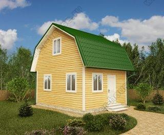 Проект дачного дома 5 на 6 с мансардой