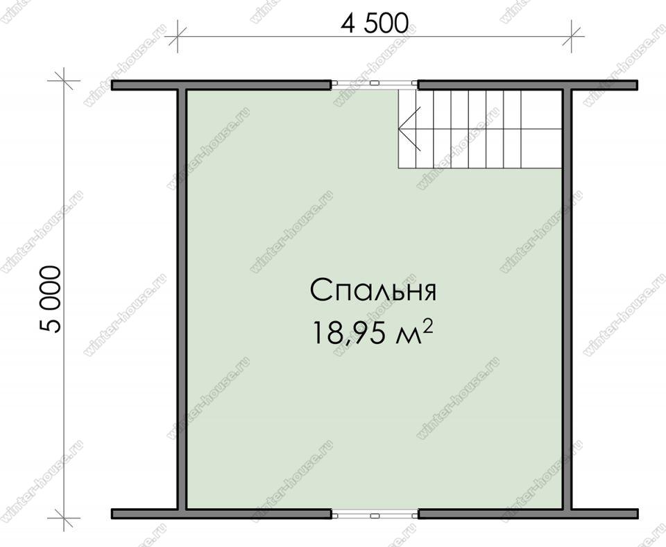 План дачного дома 5х6 с мансардой