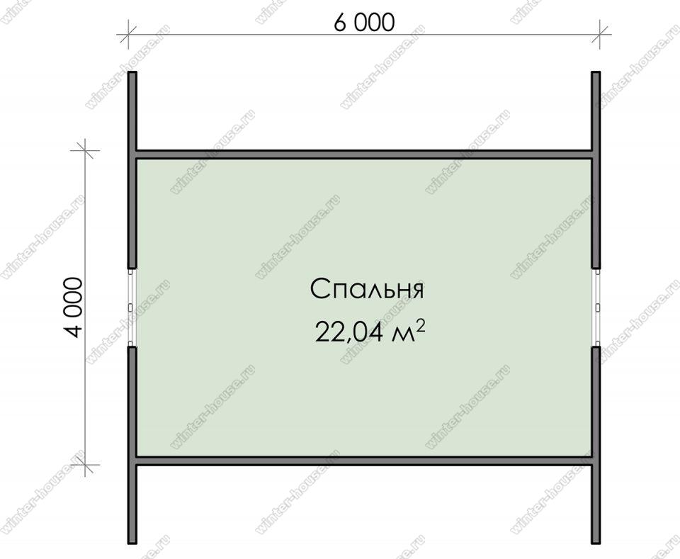 План дачного дома 6х7 с мансардой и террасой