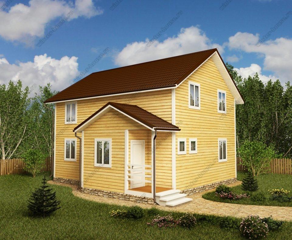 Проект двухэтажного дома для постоянного проживания 8,5 на 9