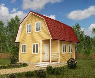 Проект дачного дома 6 на 6 с мансардой