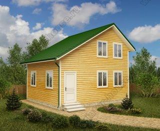 Проект двухэтажного дома для постоянного проживания 6 на 7