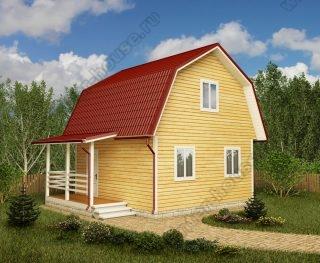 Проект дачного дома 7,5 на 6 с мансардой и террасой