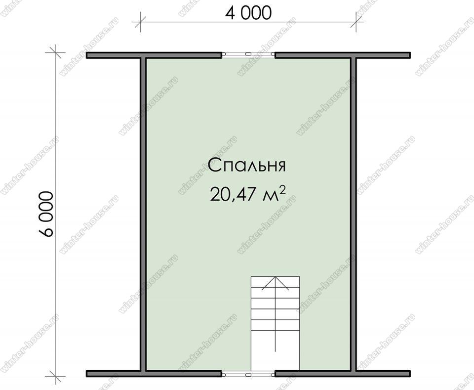 План дачного дома 7,5х6 с мансардой и террасой