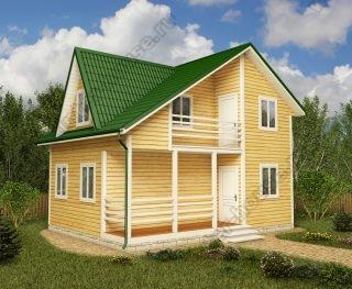 Проект двухэтажного дома для постоянного проживания 6 на 8