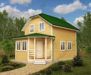 Проект двухэтажного дома для постоянного проживания 6 на 8,5 с террасой