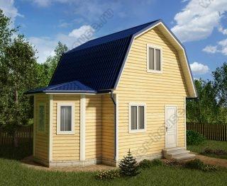 Проект дачного дома 5 на 7 с мансардой