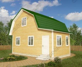 Проект дома для постоянного проживания 7 на 8 с мансардой