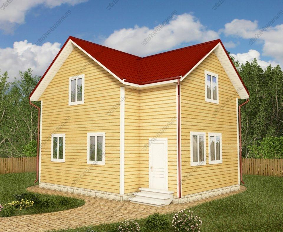 Проект двухэтажного дома для постоянного проживания 8 на 8