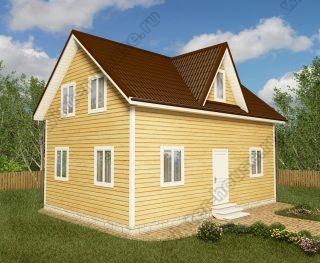 Проект двухэтажного дома для постоянного проживания 6 на 9