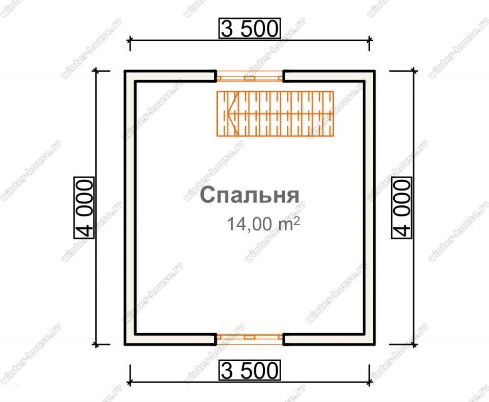 План дачного дома 4х5 с мансардой и террасой