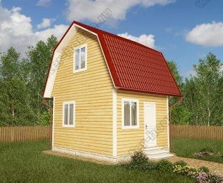 Проект дачного дома 4 на 5 с мансардой
