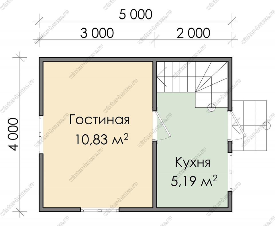 Планировка дачного дома 4 на 5 с мансардой