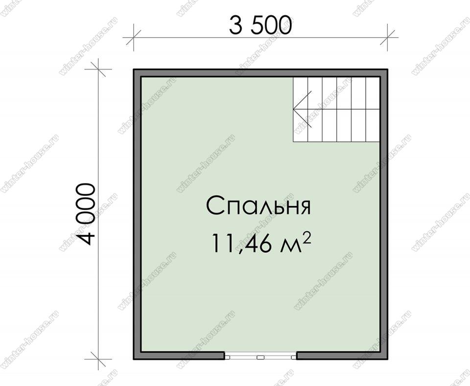 План дачного дома 4х5 с мансардой