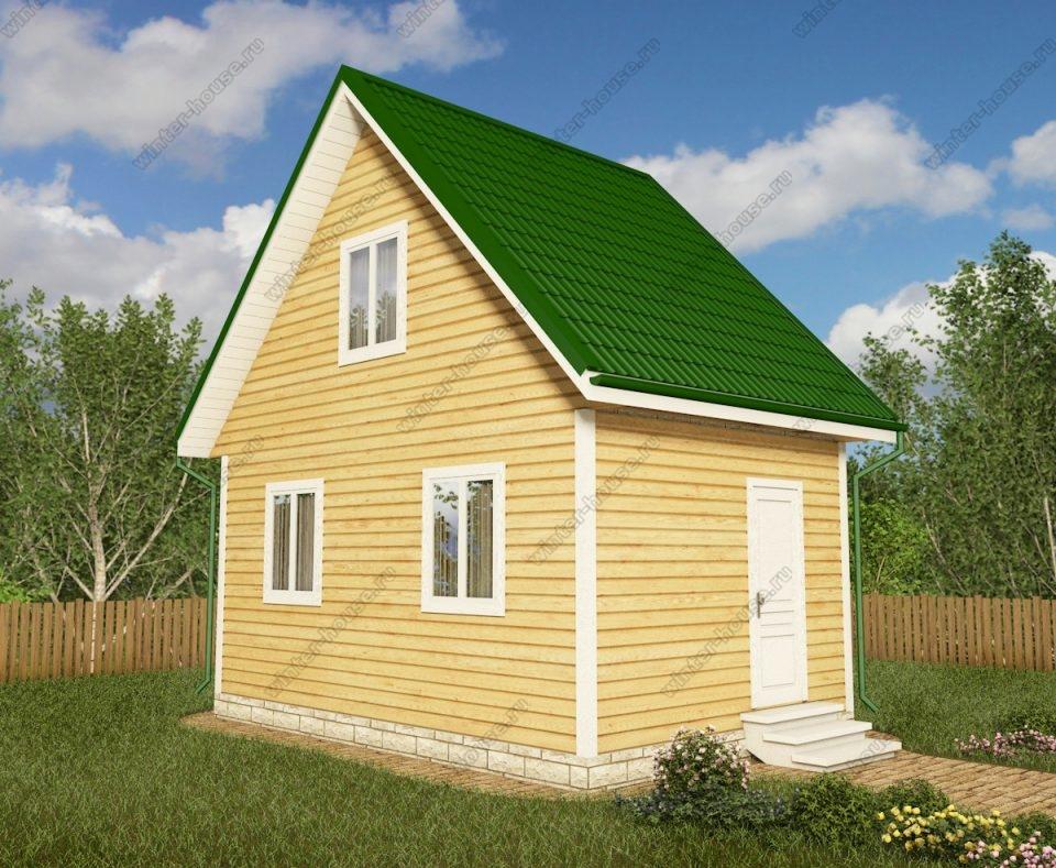 Проект дачного дома 4 на 6 с мансардой