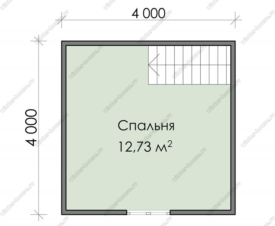 План дачного дома 4х6 с мансардой