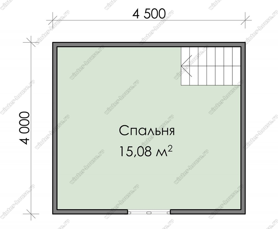 План дачного дома 6х6 с мансардой