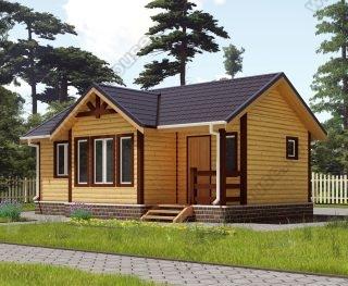 Проект одноэтажного дома для постоянного проживания 6 на 8,5 с террасой