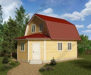 Проект дома для постоянного проживания 8,5 на 6 с мансардой