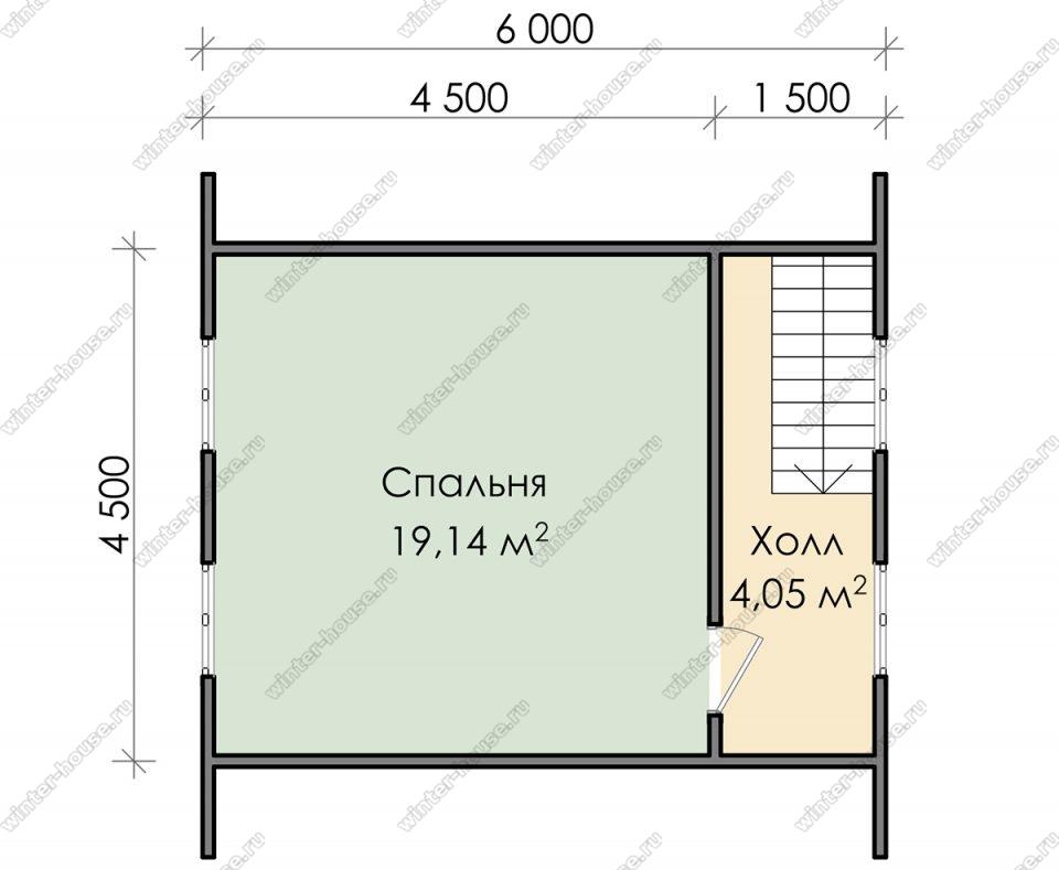 План дома для постоянного проживания 8,5х6 с мансардой