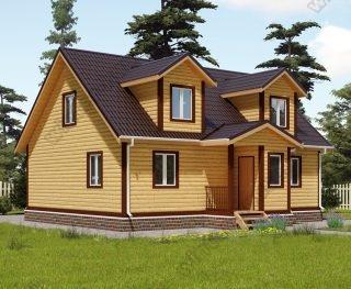 Проект дома для постоянного проживания 9,5 на 10 с мансардой