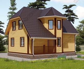 Проект двухэтажного дома для постоянного проживания 8 на 9 с террасой