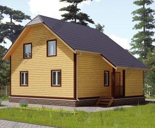 Проект двухэтажного дома для постоянного проживания 8 на 9,5