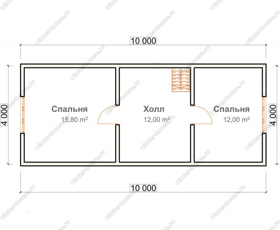 План дома для постоянного проживания 6х10 с мансардой и террасой