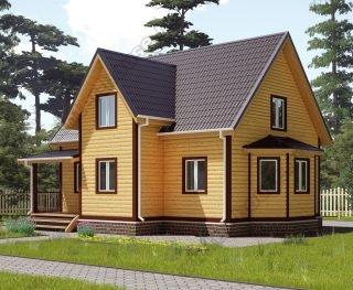 Проект двухэтажного дома для постоянного проживания 8 на 10
