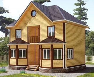 Проект двухэтажного дома для постоянного проживания 7 на 9
