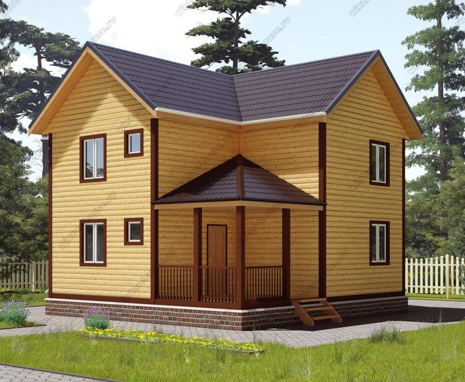 Проект двухэтажного дома для постоянного проживания 7,5 на 8