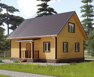 Проект двухэтажного дома для постоянного проживания 7 на 9 с террасой