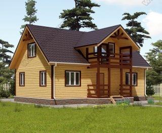 Проект дома для постоянного проживания 8,5 на 11 с мансардой