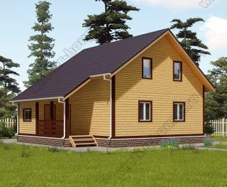 Проект двухэтажного дома для постоянного проживания 9 на 10 с террасой