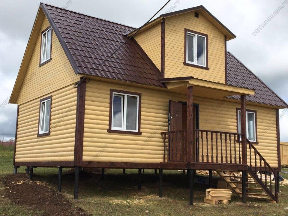 Фото строительства дома из бруса под ключ с мансардой