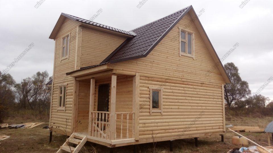 Фото брусового дома 7х9 под ключ с террасой
