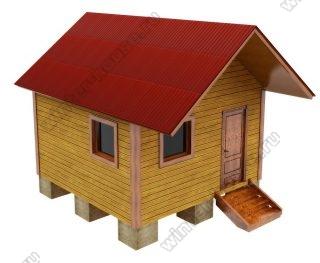 Одноэтажная деревянная баня из бруса 4 на 4